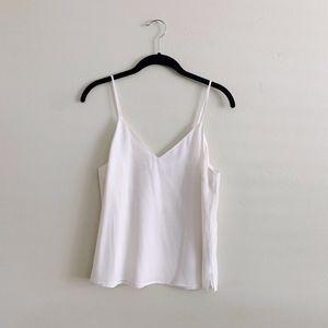 Abercrombie White Silky Cami Top